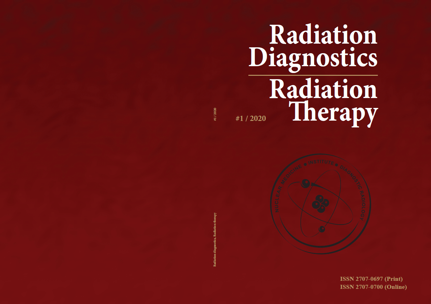 """""""Radiation Diagnostics, Radiation Therapy"""" number 1, 2020 journal cover"""